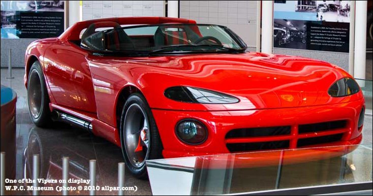 Dodge Viper prototype car at the Chrysler Museum