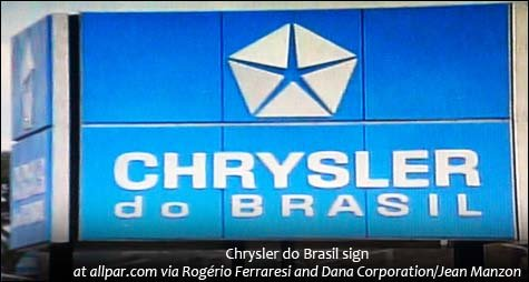 Chrysler do Brasil sign