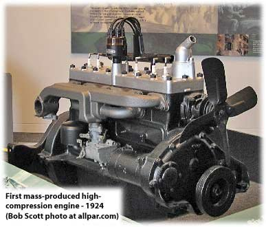 high-compression engines, 1924