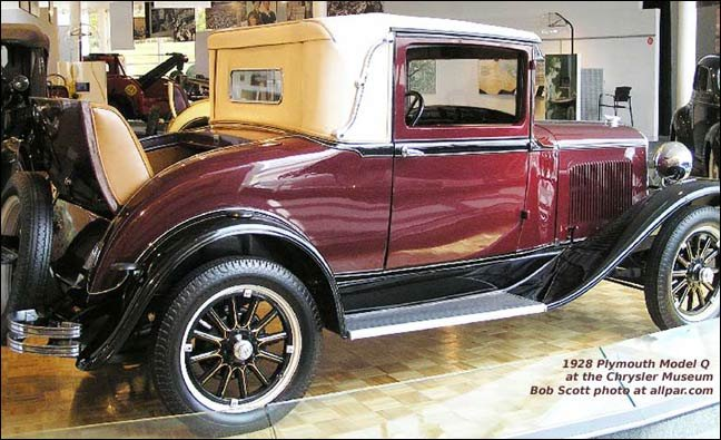 1928-1928 model Q Plymouths