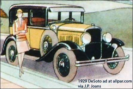1929 DeSoto Ad 01 desoto cars, 1928 1961, with specifications  at virtualis.co