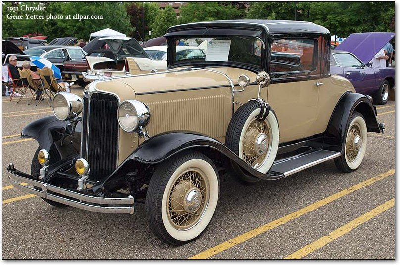1931 Chrysler coupe