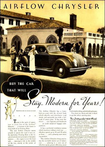 Desoto And Chrysler Airflow Car