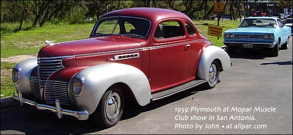 Plymouth Cars Of 1939 A Hot Lineup