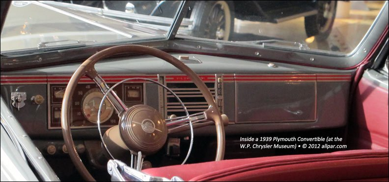 1939 Plymouth interior