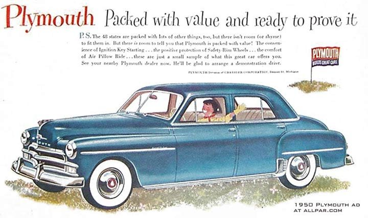 1950 Plymouth ad