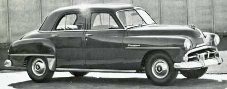 The Plymouth Cranbrook Cambridge And Concord Cars 1951 1953