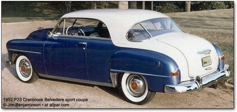 The 1951 1959 Plymouth Belvedere Body On Frame Cars