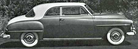 Plymouth cars for 1952 on