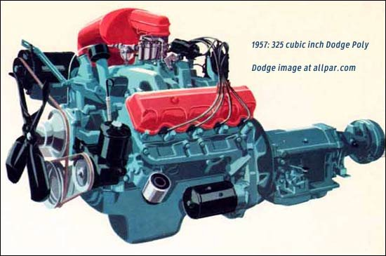 1957 325 Super Red Ram Dodge engine