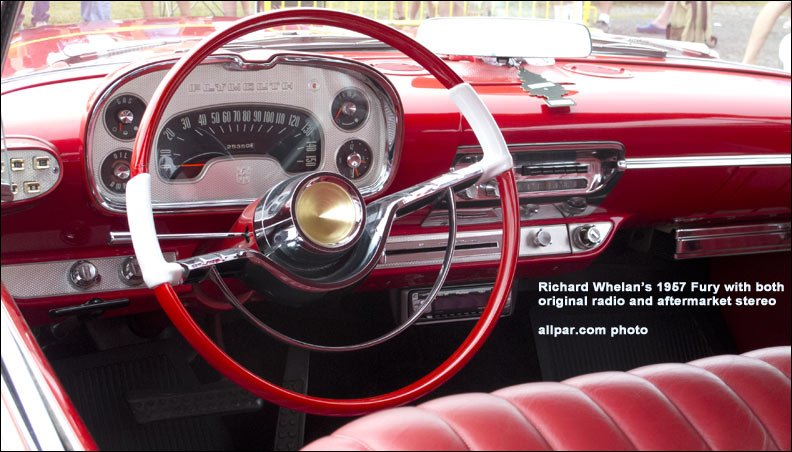 1957 Plymouth dashboard