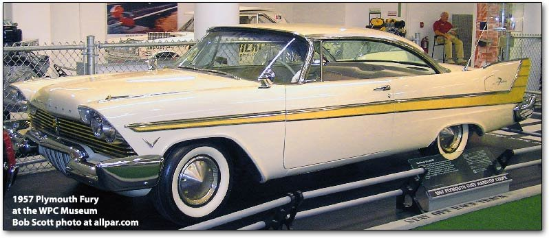1957 plymouth fury cars