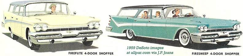 1959 DeSoto Shopper wagons