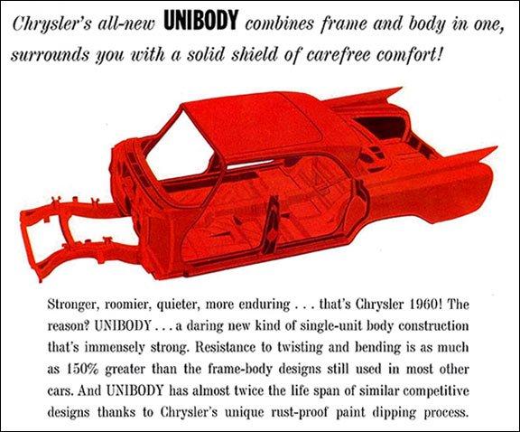 Chrysler Moves To Unibody Unit Body Construction 1960
