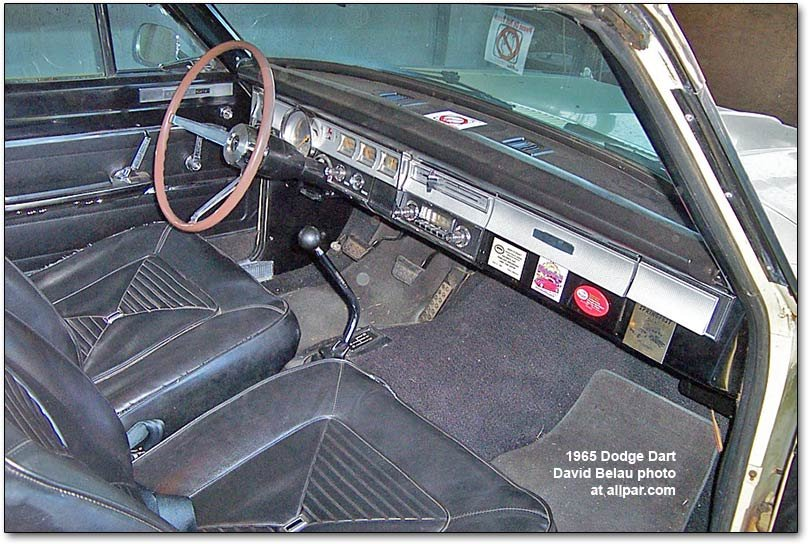 1965 dodge dart interior