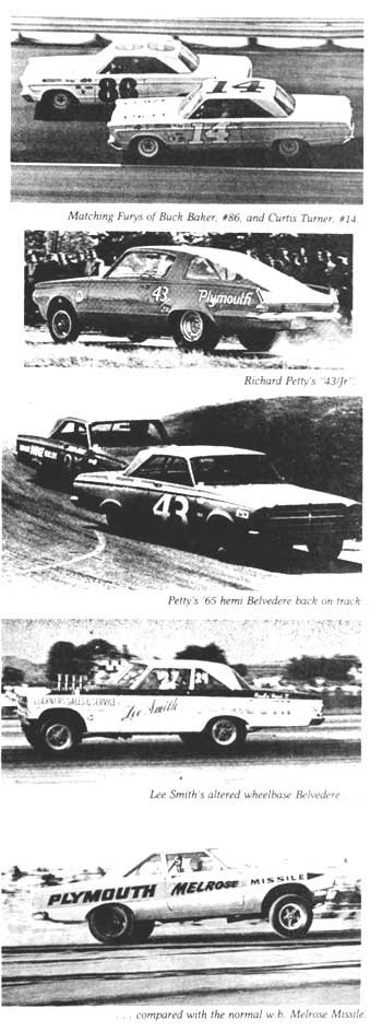 racing scenes from 1965 - Plymouth - Richard Petty and NASCAR