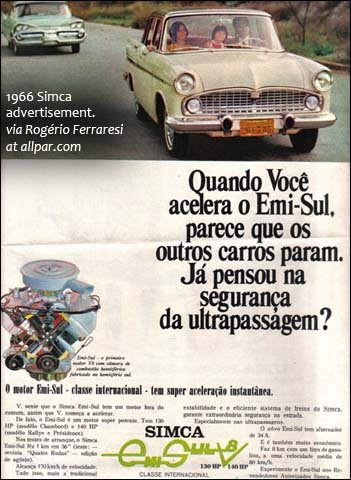 1966 Simca advertisement