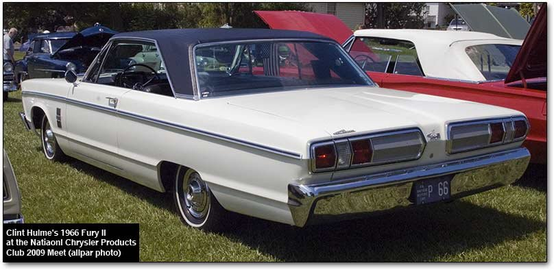 1966 plymouth Fury II (rear)