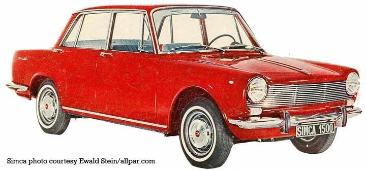 Simca 1300 1301 And Simca 1500 1501 Cars