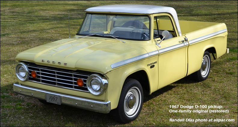 Dodge D-Series Pickups, 1961-1971
