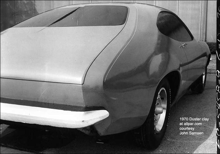 1970 Duster clay model