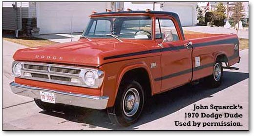1970-1971 Dodge Dude pickups and the 2004 Durango Dude concept