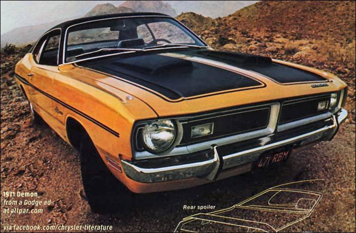 1971 1972 dodge dart demon sporty cars based on the duster. Black Bedroom Furniture Sets. Home Design Ideas