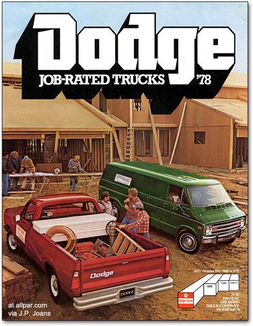 1978 Dodge trucks brochure