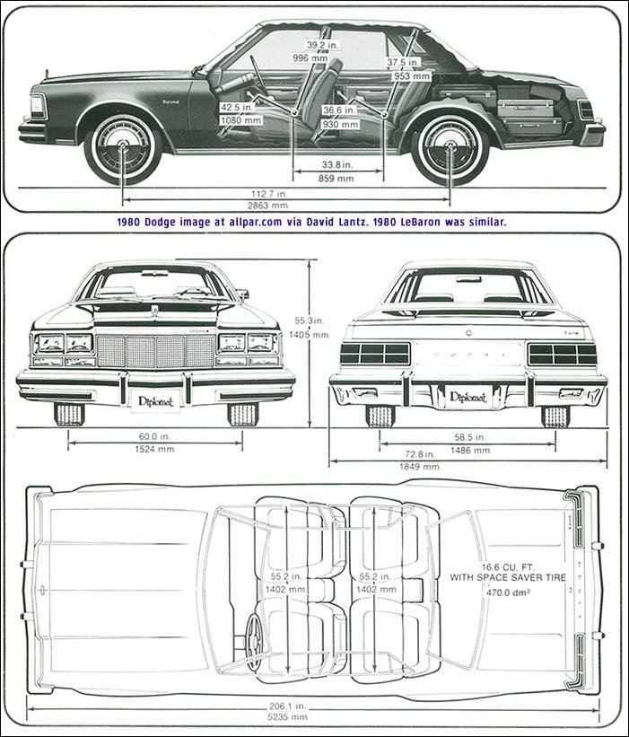 m bodies dodge diplomat plymouth gran fury and others
