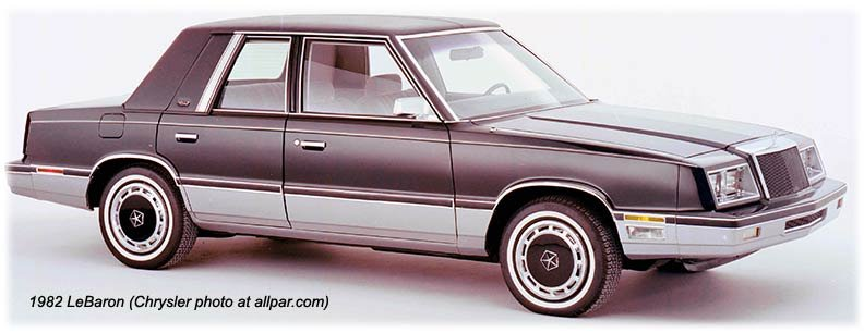 1982 chrysler lebaron k-car