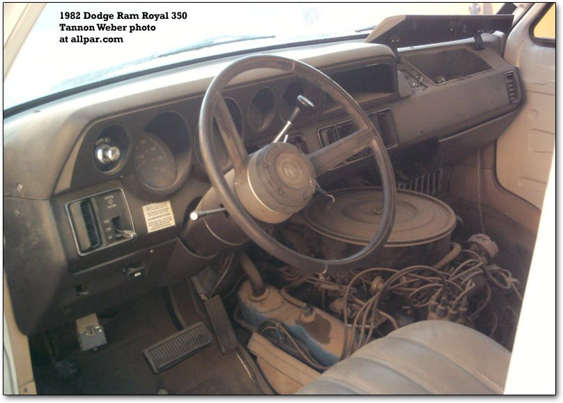 1982 ram interior 1985 dodge ram fuse box dodge wiring diagrams for diy car repairs Dodge Caravan Fuse Box at n-0.co
