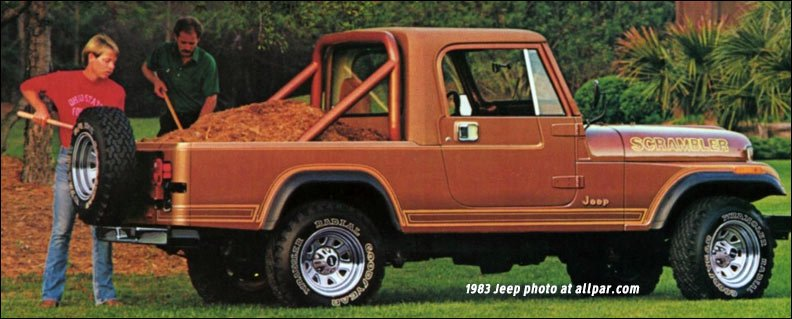 Jeep Renegade Pickup >> 1981-1985 Jeep Scrambler 4x4 pickups
