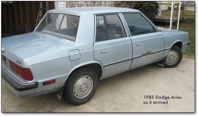 1985 dodge car before restoration