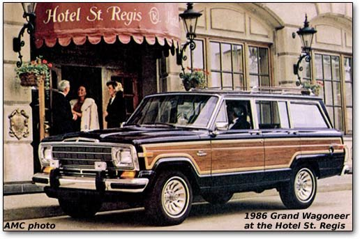 1986 Grand Wagoneer at the St. Regis Hotel