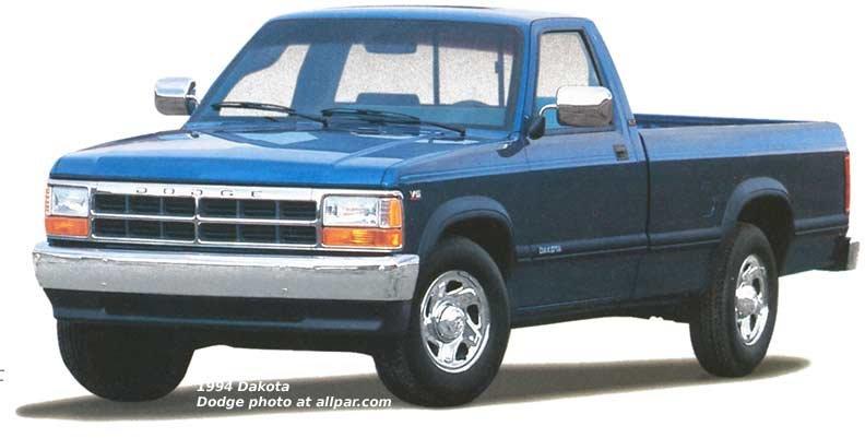 Dodge Dakota Mid Sized Pickup Trucks 1987 1996