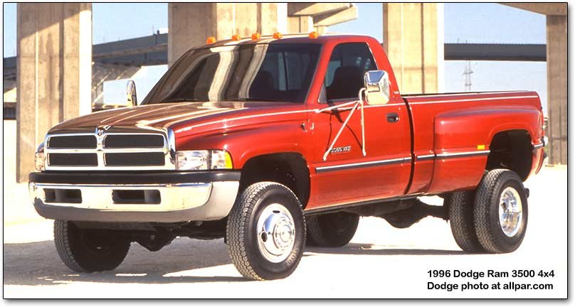 1994-2001 Dodge Ram pickup trucks