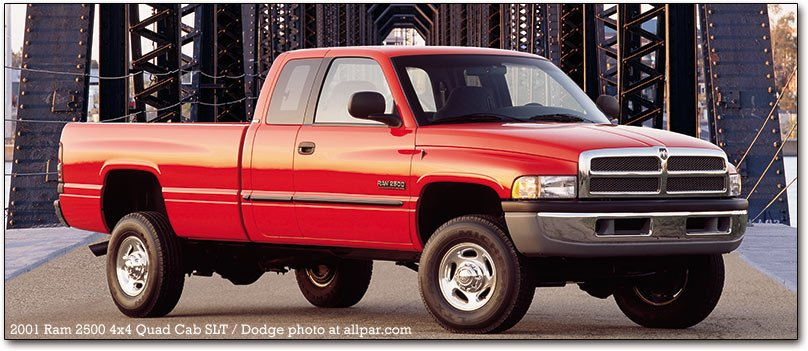 "1994-2001 Dodge Ram pickup trucks: the first of the ""big rig Rams"""