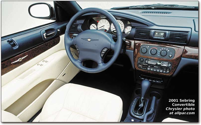 2001 chrysler sebring interior