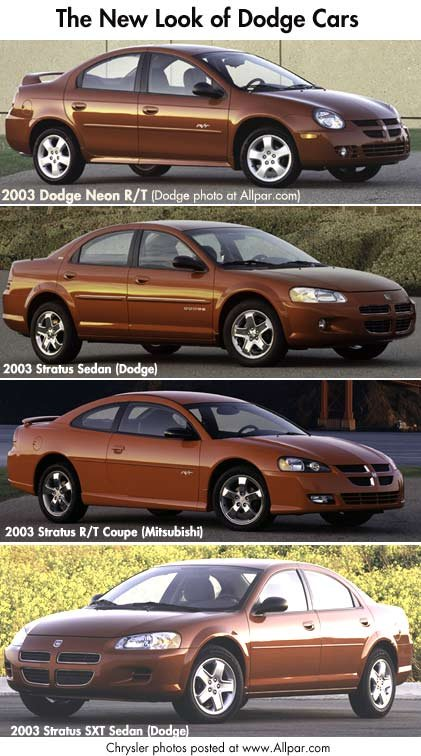 2003 dodge neon and dodge stratus cars
