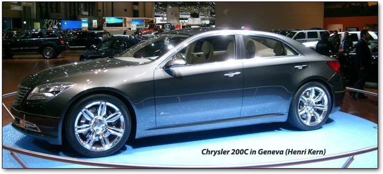chrysler 200C car side view