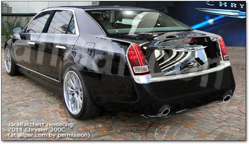 2011 Chrysler 300C car rendering