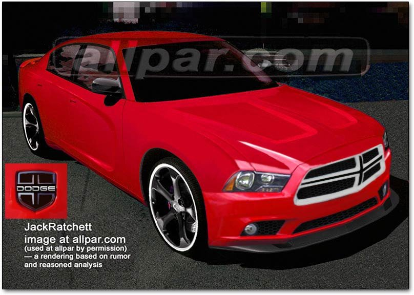 2011 dodge charger rendering