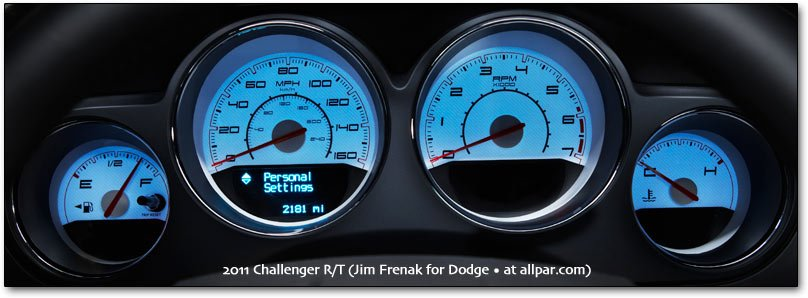 2011 Challenger gauges