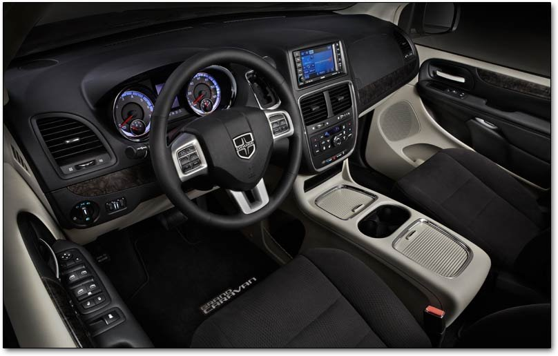 2011 minivan gauges. The Dodge Caravan Mainstreet adds body-color mirrors,