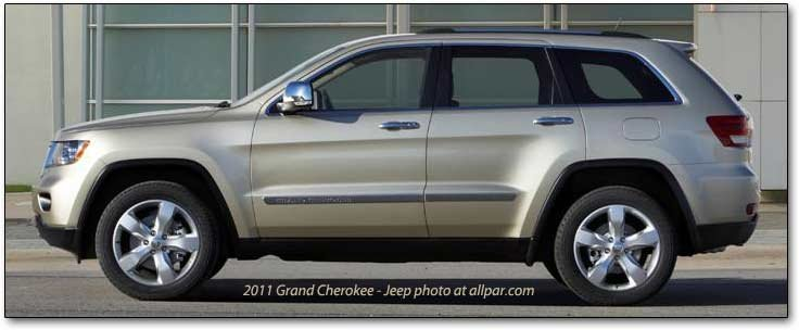 2011 Jeep Grand Cherokee Suv Standard Features Specifications And Dimensions