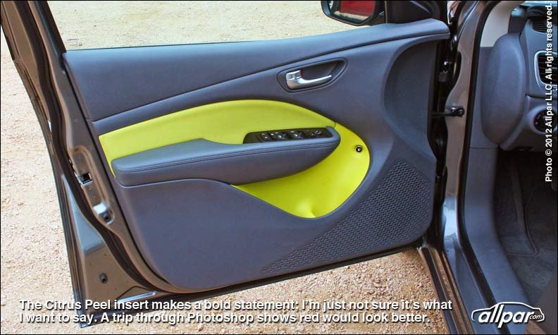 yellow door panel inserts
