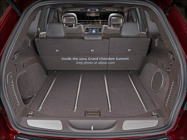 2014 Grand Cherokee Summit cargo bay