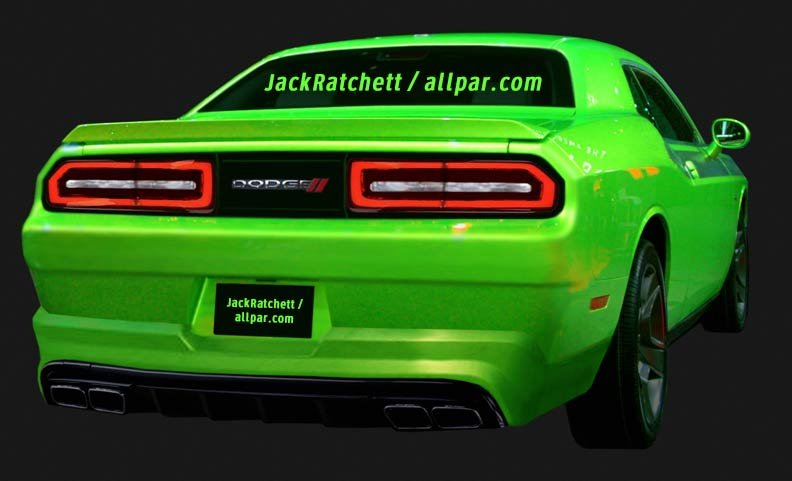 2015 dodge challenger rear rendering