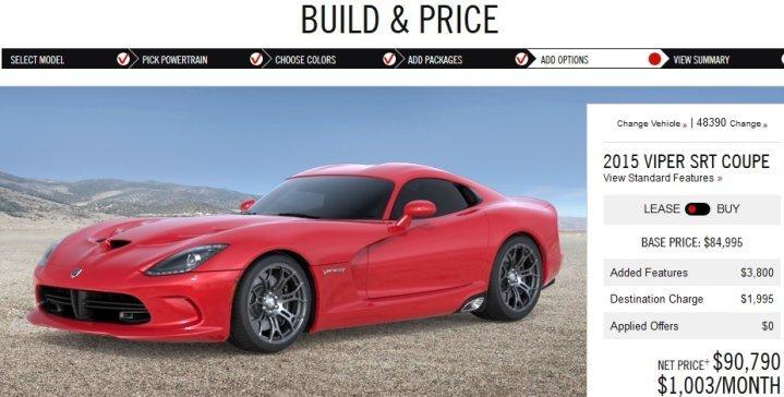 2015 viper srt build