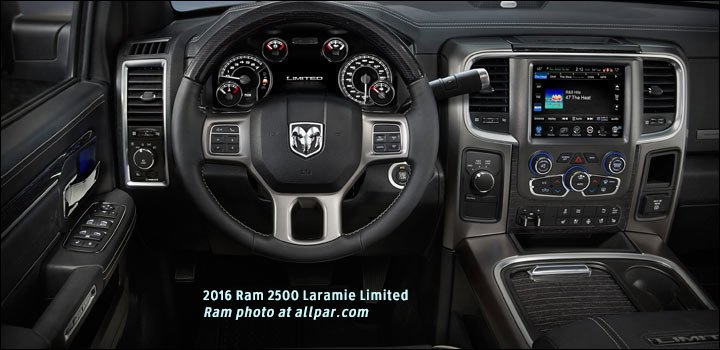 The 2014 Ram 1500 And 2015 Ram 2500/3500 Laramie Limited Also Only Had  Black Interiors.